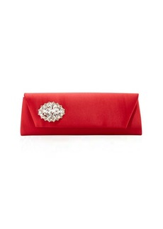 Badgley Mischka Cape Satin Embellished Clutch Bag