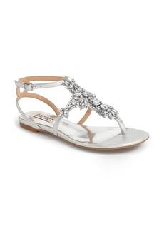 Badgley Mischka 'Cara' Crystal Embellished Flat Sandal (Women)