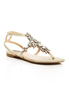 Badgley Mischka Cara II Embellished Flat Sandals