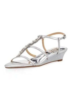 Badgley Mischka Carley II Crystal Demi-Wedge Sandal