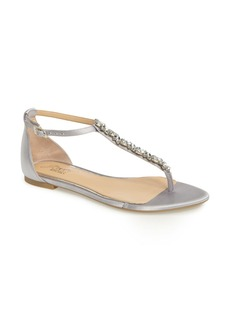 Badgley Mischka Carrol Embellished T-Strap Sandal (Women)