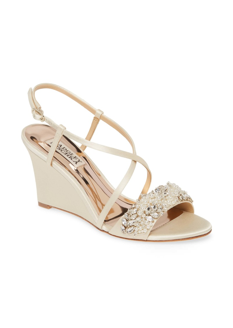 Badgley Mischka Clarisa Embellished Wedge Sandal (Women)
