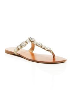 Badgley Mischka Clich� Embellished Thong Sandals