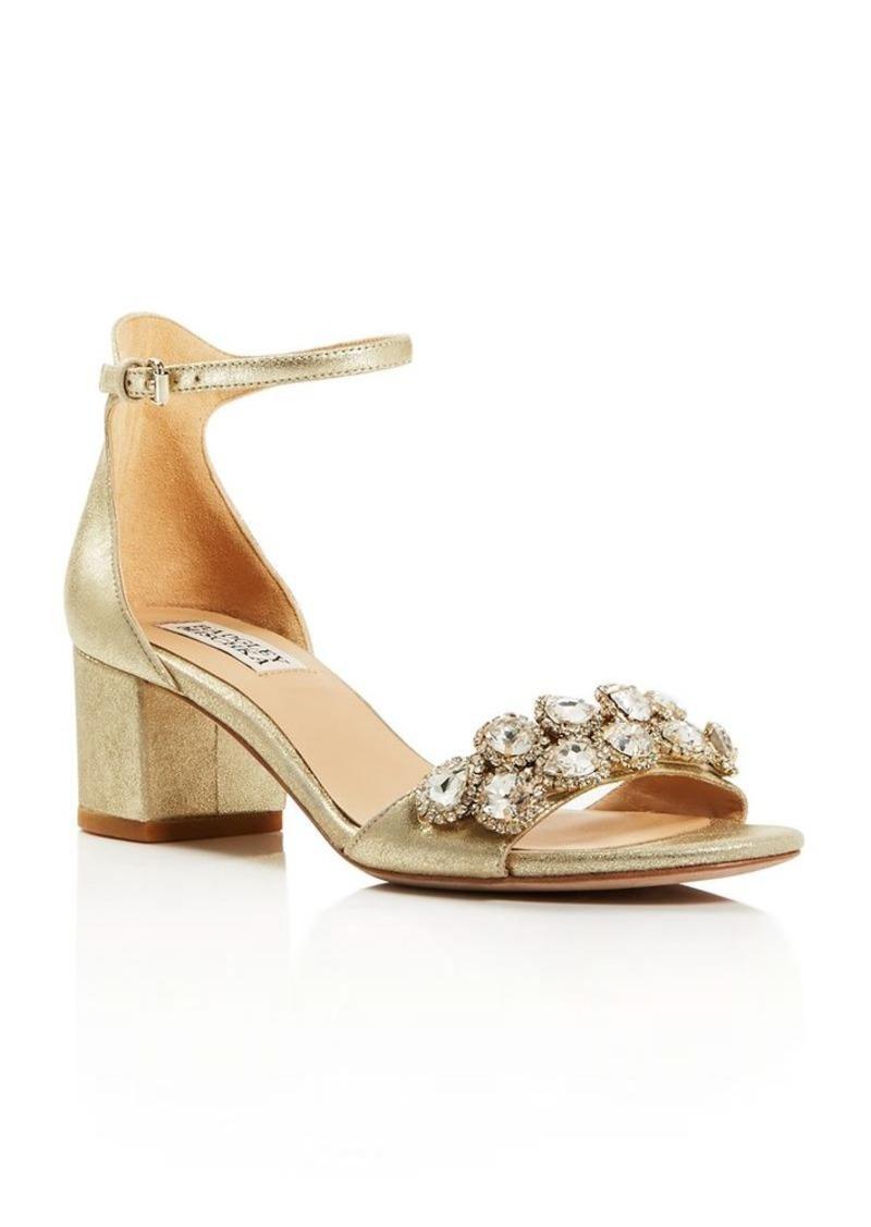 Badgley Mischka Clove Embellished Metallic City Sandals