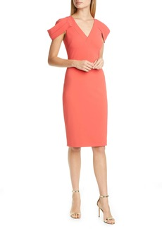 Badgley Mischka Cold Shoulder Sheath Dress