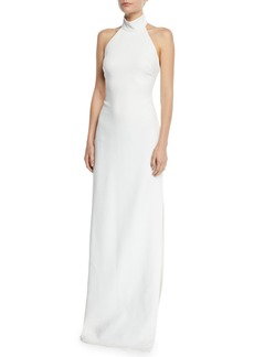 Badgley Mischka Collection Meghan Halter Column Gown