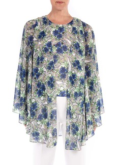 Badgley Mischka Collection Print Shell & Cape Set