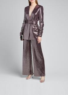 Badgley Mischka Collection Sequin Pants