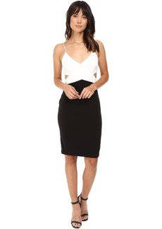 Badgley Mischka Color Block Cut Out Stretch Dress