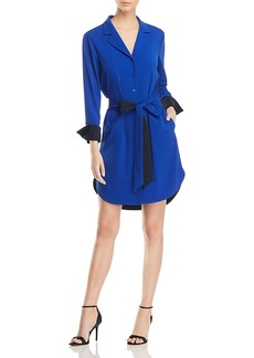 Badgley Mischka Color-Block Shirt Dress