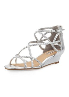 Badgley Mischka Corrine Braided Demi-Wedge Sandal