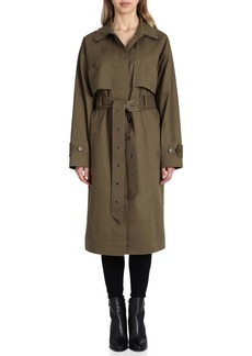 Badgley Mischka Cotton Blend Utility Trench Coat