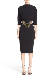 Badgley Mischka Couture Embellished Blouson Midi Dress (Nordstrom Exclusive Color)