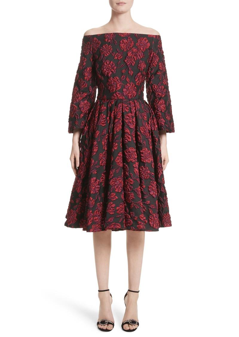 9befcf7cb3 Badgley Mischka Couture. Print Brocade Off the Shoulder Dress (Nordstrom  Exclusive)
