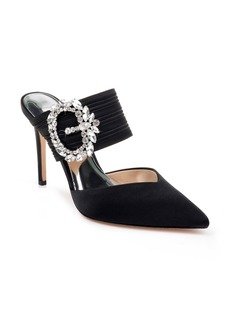 Badgley Mischka Fancy Crystal Buckle Mule (Women)