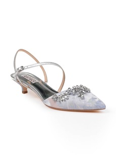 Badgley Mischka Crystal Embellished Quarter Strap Pump (Women)