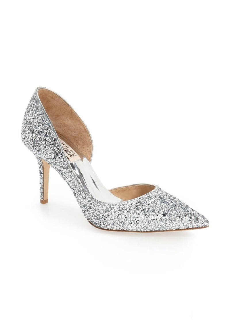 Badgley Mischka Daisy Embellished Pointed Toe Pump (Women)