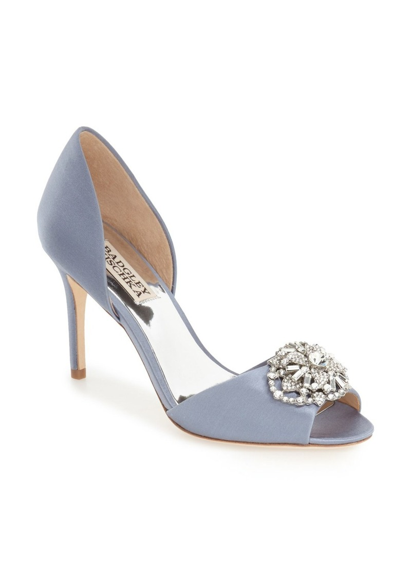 Badgley Mischka 'Dana' Crystal Embellished d'Orsay Pump (Women)