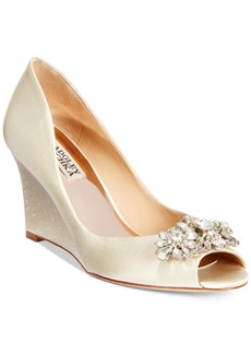 Badgley Mischka Dara Evening Wedges Women's Shoes