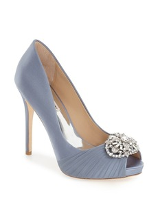 Badgley Mischka 'Desi' Peep Toe Platform Pump (Women)