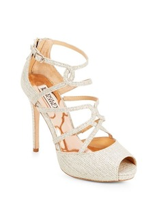 Badgley Mischka Dew Caged Ankle-Strap Pumps