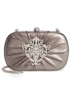 Badgley Mischka Diva Metallic Leather Clutch