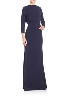 Badgley Mischka Dolman Gown