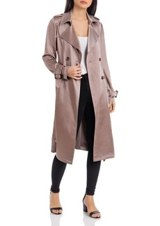 Badgley Mischka Double-Breasted Trench Coat