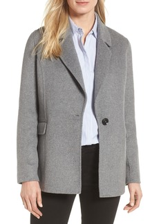 Badgley Mischka Double Face Wool Blend Blazer (Regular & Petite)