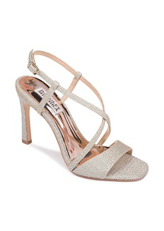 Badgley Mischka Ebiza Glitter Cross Strap Sandal (Women)