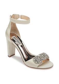 Badgley Mischka Edaline Crystal Embellished Ankle Strap Sandal (Women)