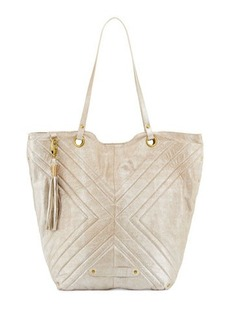 Badgley Mischka Eden 2 Quilted Leather Tote Bag