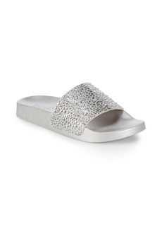 Badgley Mischka Embellished Slides