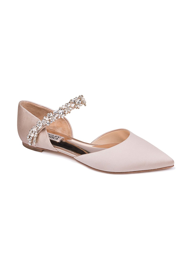 Badgley Mischka Erin Embellished Flat (Women)