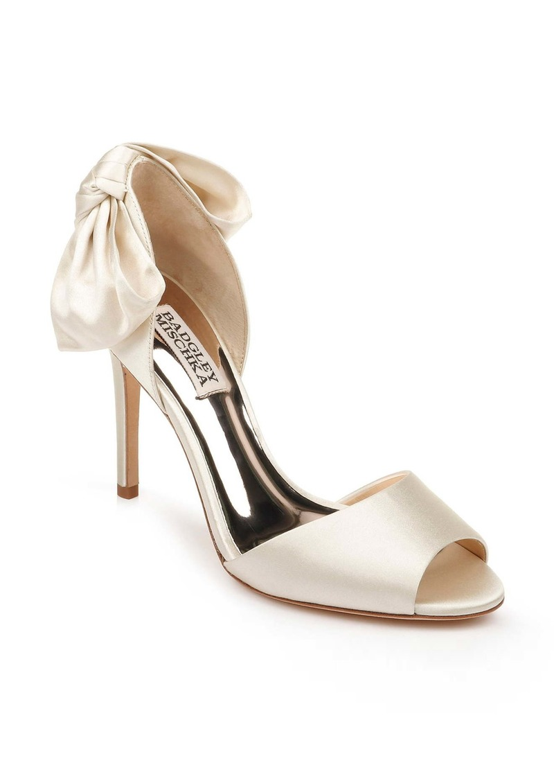 Badgley Mischka Eugenie Bow d'Orsay Peep Toe Pump (Women)