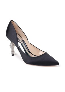 Badgley Mischka Evan Crystal Heel Pointed Toe Pump (Women)