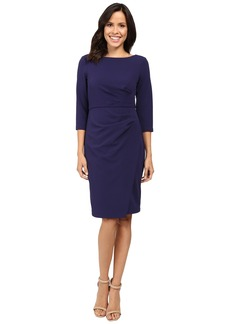 Badgley Mischka Faux Wrap Crepe Dress