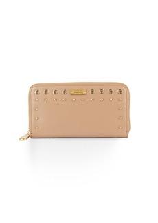 Badgley Mischka Fiona Studded Leather Wallet