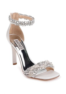Badgley Mischka Fiorenza Crystal & Imitation Pearl Embellished Sandal (Women)