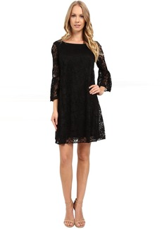 Badgley Mischka Flare Bell Sleeve Dress
