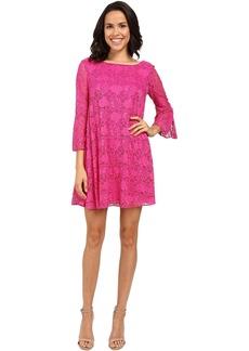 Badgley Mischka Flare Belle Sleeve Dress
