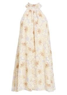 Badgley Mischka Collection Floral Print Trapeze Dress