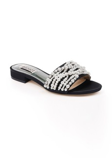 Badgley Mischka Florentina Embellished Slide Sandal (Women)