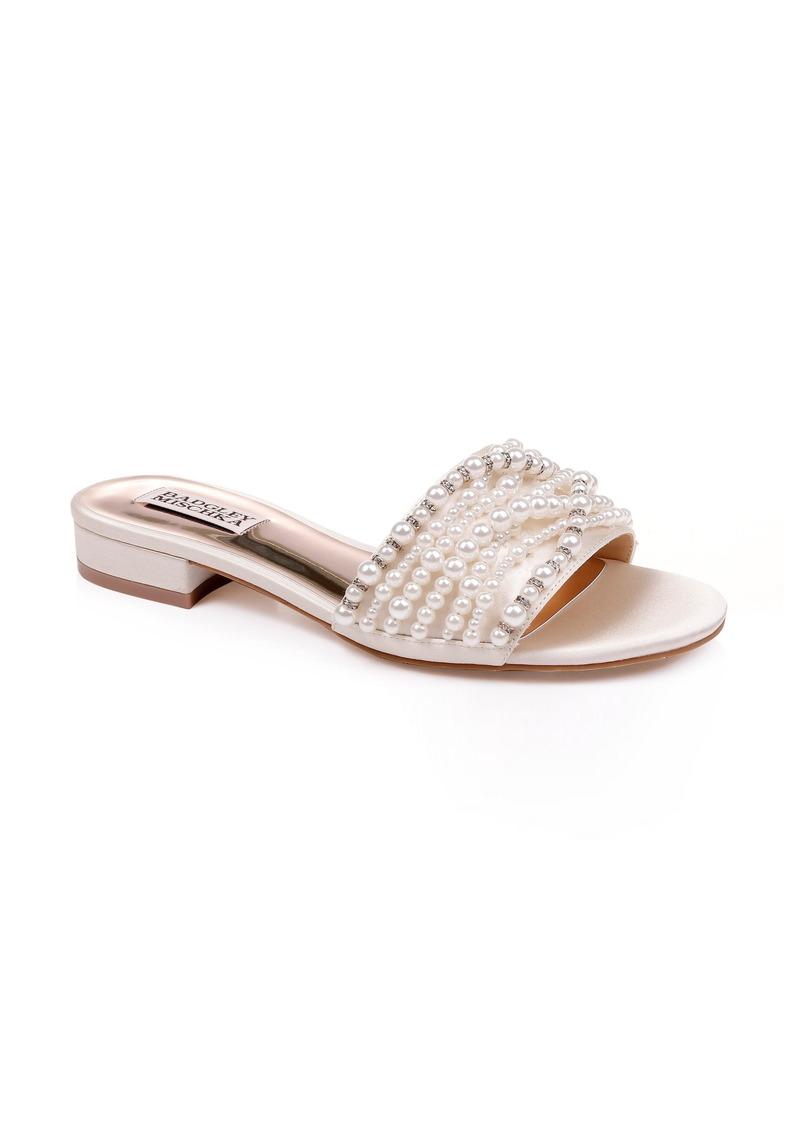 Badgley Mischka Florentina Embellished Slide Sandal (Women)