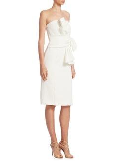 Badgley Mischka Flower Waist Dress