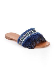 Badgley Mischka Fortune Embellished Slide Sandal (Women)