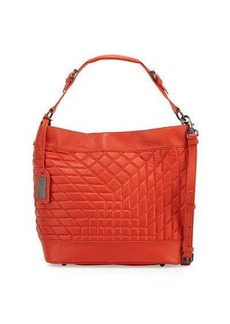 Badgley Mischka Frankie Quilted Leather Hobo Bag