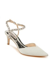 Badgley Mischka Collection Galaxy Embellished Ankle Strap Pointed Toe Pump (Women)