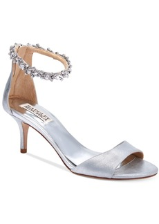 Badgley Mischka Geranium Ankle-Strap Evening Sandals Women's Shoes
