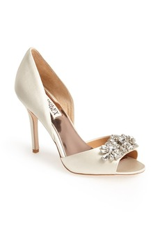 Badgley Mischka 'Giana' Satin d'Orsay Pump (Women)